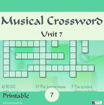 Musical Crossword Unit 7