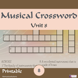 Musical Crossword Unit 8