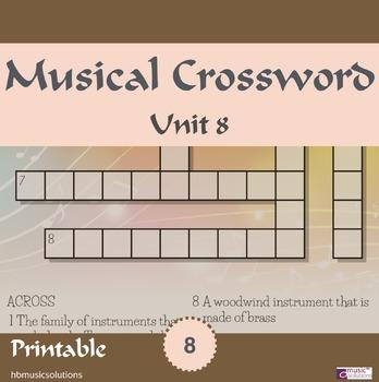 Musical Crossword Unit 8