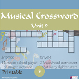 Musical Crossword Unit 9