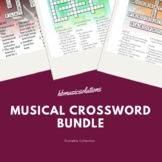 Musical Crossword Units 1 - 10 Bundle