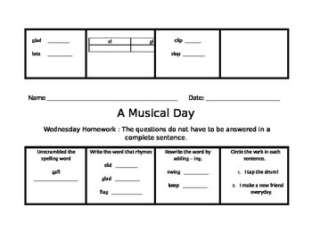 Musical Day Journeys Common Core