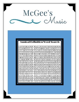 Musical Definition Word Search