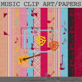 Musical Digital Scrapbooking, Clip Art, Bulletin Board