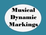 Musical Dynamic Markings