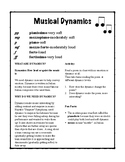 Musical Dynamics Activity