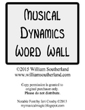 Musical Dynamics Word Wall Posters