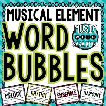 Musical Element Word Bubbles