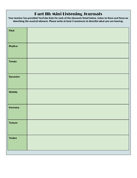 Musical Elements Self Study Guide