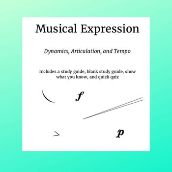 Musical Expression Study Guide and Review Packet