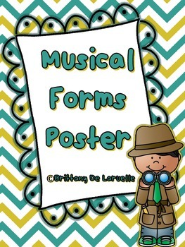 Musical Form Poster - Color, black & white, PLUS editable