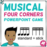 Musical Four Corners, 16th Note Rhythms (Stick & Standard Bundle)