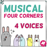 Musical Four Corners, 4 Voices Game (Now with SHOUT & CALL versions)