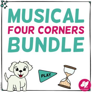 Musical Four Corners Game Bundle
