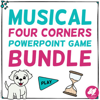 Four Corners Music PowerPoint Games: BIG Bundle: Rhythm, Pitch, Clefs, Elements