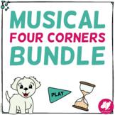 Four 4 Corners Music PowerPoint Games BIG Bundle: Rhythm,