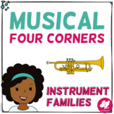 Musical Four 4 Corners, Instrument Families Game - NOW WITH INSTRUMENT SOUNDS!