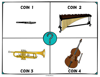 Musical Four Corners, Instrument Families Game  (French version)