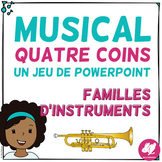 Musical Four Corners, Instrument Families Game  (French version) now with audio