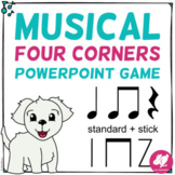 Musical Four Corners: Quarter Notes, Rest, & 8th Note Rhyt