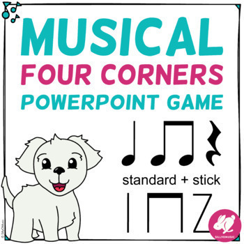 Musical Four Corners: Quarter Notes, Rest, & 8th Note Rhythms