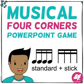 Musical Four Corners RHYTHM Games Stick & Standard Notation Bundle