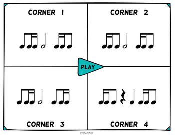 Musical Four Corners, STANDARD NOTATION Rhythm Bundle