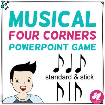 Musical Four Corners, Syncopa Rhythm Game (Stick & Standard Bundle)