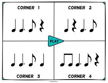 Musical Four Corners, Tam Ti Rhythm Game (Stick & Standard Bundle)