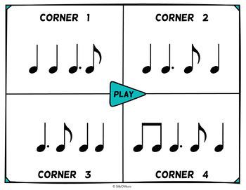 Musical Four Corners, Tam Ti Rhythms (Stick Notation)