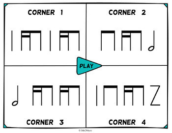 Musical Four Corners, Tika-Ti Rhythm Game (Stick & Standard Bundle)