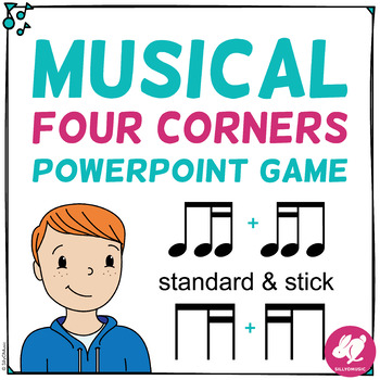 Musical Four Corners, 8th - 16th Note Combinations (Stick & Standard Bundle)