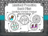 Musical Fraction Beat Pies/Circles:  Music Notes Version  -  PDF Edition