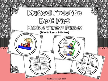 Musical Fraction Beat Pies/Circles: Music Rests Version - PDF Edition