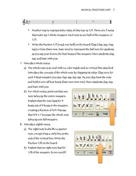 Musical Fractions Unit
