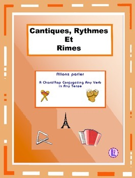 French  Conjugations - French Rap-like Musical Chant with Exercises and Mp3