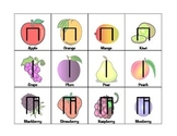 Musical Fruit Rhythm Cards