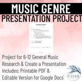 Musical Genre Presentation Project (PDF & Google Drive Versions)