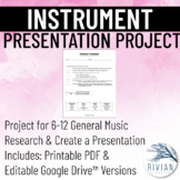 Musical Instrument Presentation Project (PDF & Google Driv