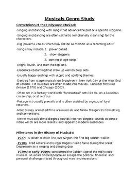 Musical Genre Study Guide and Notes