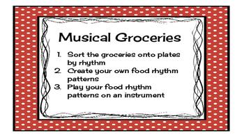 Musical Groceries - practice writing rhythms