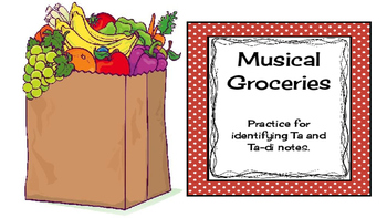 Musical Groceries - practice writing rhythms