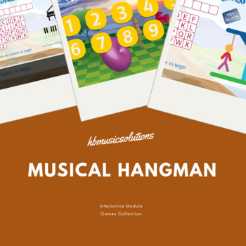 Musical Hangman 8 Letters Interactive Music Game