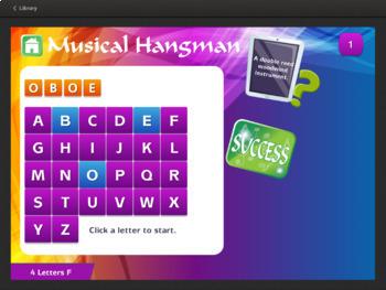 Musical Hangman Instruments Extended Interactive Module