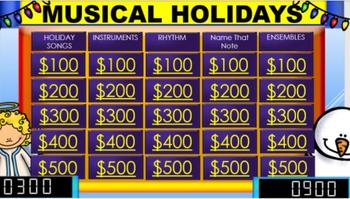 Musical Holidays Game Show
