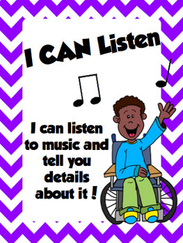 Musical I CAN Statements in English and Spanish!  Poster Kit or Notes Home