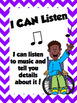 Musical I CAN Statements in English and Spanish!