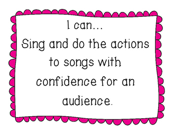 Musical I Can Statements