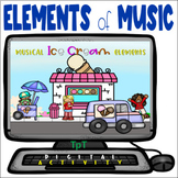 Musical Ice Cream Elements - Distance Learning - Easel Activity