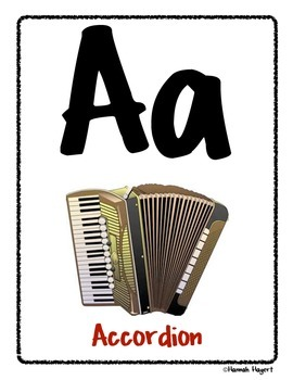 Musical Instrument ABC's